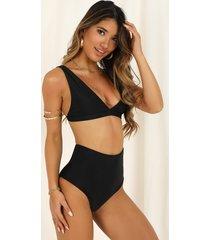 showpo barbara bikini top in black - 14 (xl) bikini sets