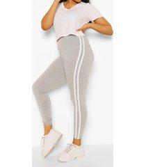 plus side stripe legging, grey
