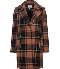 coat outerwear heavy wollen jas lange jas zwart brandtex