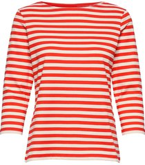 ilma shirt t-shirts & tops long-sleeved rood marimekko