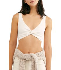 women's free people intimately fp tori bralette, size x-large - white