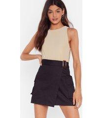 womens work for it utility mini skirt - black