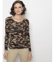 blusa camuflagem operate feminina - feminino