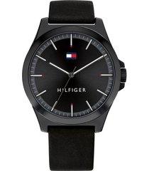 reloj tommy hilfiger 1791715 negro piel