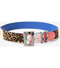 floral and animal patch belt - red - 90