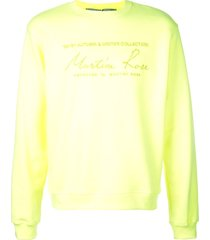 fluorescent yellow classic logo sweatshirt