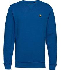 crew neck sweatshirt sweat-shirt trui blauw lyle & scott