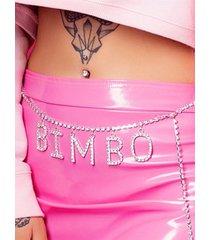 cadena de cuerpo de cadena de cintura con incrustaciones de diamantes de imitación sexy letra ajustable playa