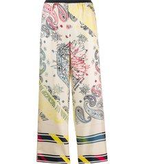 golden goose bandana print straight-leg trousers - neutrals