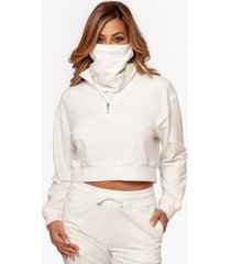 bam by betsy & adam zip pullover top & face mask, created for macy's