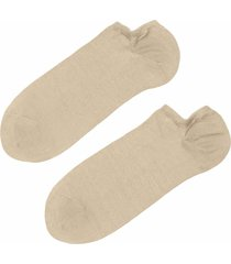 calzedonia - light cotton ankle socks, 46-47, nude, men