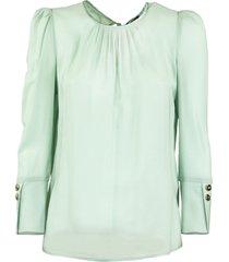 elisabetta franchi celyn b. short blouse with gathers