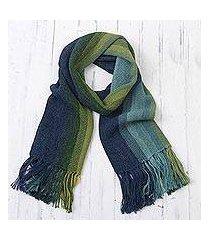100% alpaca scarf, 'seaside stripes' (peru)