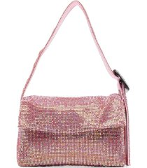 benedetta bruzziches rhinestone-embellished shoulder bag - pink