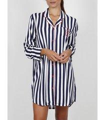 pyjama's / nachthemden admas klassieke stripes nachthemd met lange mouwen