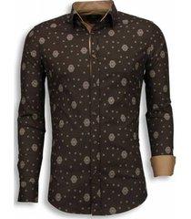 overhemd lange mouw tony backer blouse mozaiek pattern