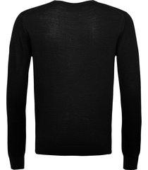 bs jupiter stickad tröja m. rund krage svart bruun & stengade