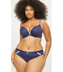lane bryant women's extra soft thong panty 22/24 new navy