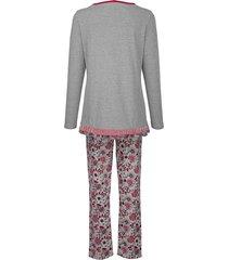 pyjamas simone grå::bordeaux::marinblå