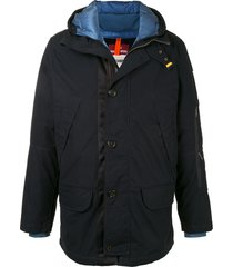 parajumpers button-up hooded jacket - blue
