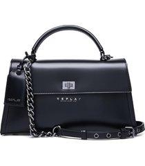 bag bags top handle bags zwart replay