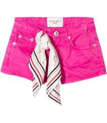 alberta ferretti fuchsia cotton shorts