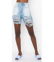 akira croatia high waist denim shorts