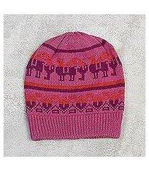 alpaca blend hat, 'alpaca rainbow' (peru)