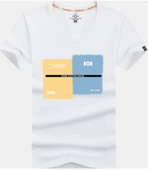 magliette casual da uomo manica corta in cotone traspirante con stampa a maniche corte in 100% cotone