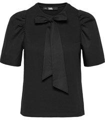 206w1708 blouses short-sleeved svart karl lagerfeld