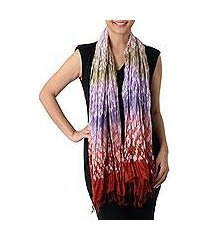 rayon blend scarf, 'color fall' (thailand)