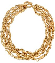 2028 four tie twisted necklace