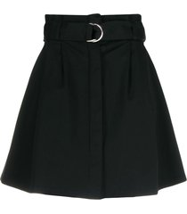p.a.r.o.s.h. belted flared skirt - black