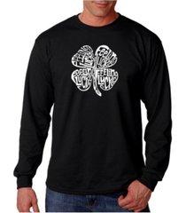 la pop art men's word art long sleeve t-shirt - feeling lucky
