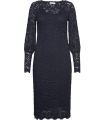 dress ls knälång klänning blå rosemunde