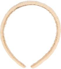 dolce & gabbana patterned headband - neutrals