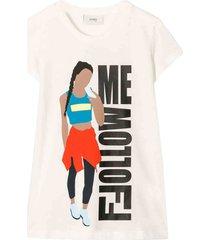 fendi cotton follow me t-shirt