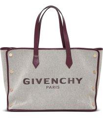 givenchy bond canvas shopper bag with logo