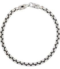 tom wood venetian chain bracelet - silver