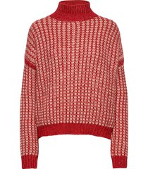 suzannyka stickad tröja röd hugo