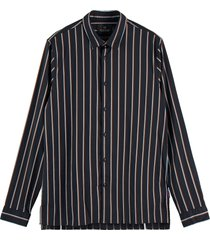 scotch & soda regular fit satin striped shirt combo b