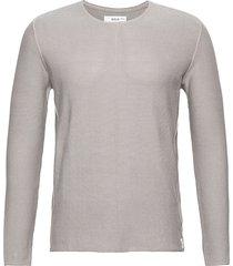 knitwear gebreide trui met ronde kraag grijs replay