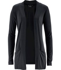 cardigan in maglina elasticizzata (nero) - bpc bonprix collection