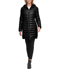 calvin klein reversible fleece-lined hooded puffer coat