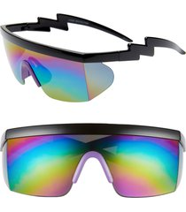 rad + refined sport shield sunglasses in black/purple at nordstrom