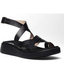 c-6502 pergamena shoes summer shoes flat sandals svart wonders