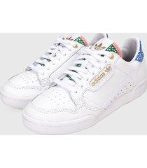 tenis lifestyle blanco-azul-verde adidas originals continental 80