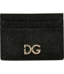 dolce & gabbana logo plaque card holder