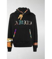 amiri bandana-print cotton hoodie