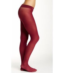 hue hosiery tights sz 2 solid sangria red tights opaque nylon tight 4689